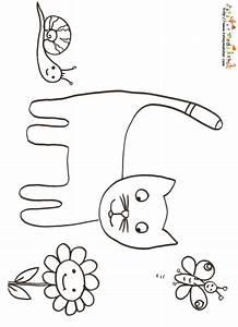 Modèle De Dessin Facile : coloriage du chat et escargot coloriage tete a modeler ~ Melissatoandfro.com Idées de Décoration