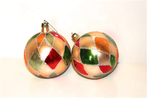 christmas ornaments vintage 1970s glass by peppermintandcocoa