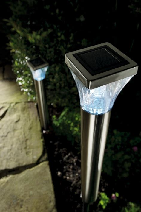 solar ultra bright stainless steel post lights 163 19 99