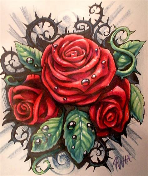 rose tattoo designdenenasvalencia