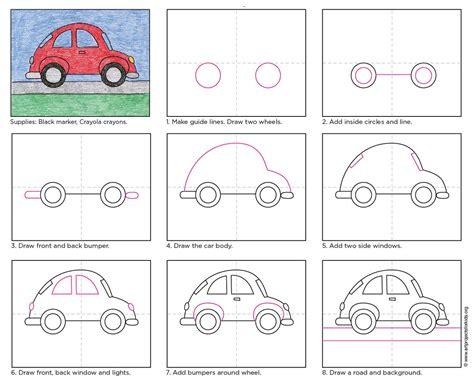 draw  cute  easy car apfk tutorials desenho passo