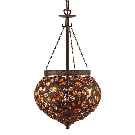28122bz Moroccan 2 Light Antique Bronze Ceiling With