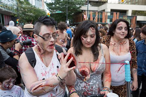 zombies zombie canada walk parade vancouver bc september royalty istock istockphoto premium res adult
