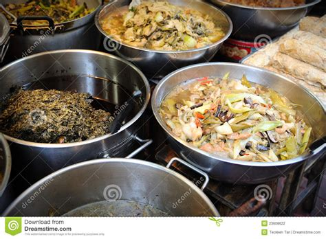cuisine sold food sell in chinatown stock photography image