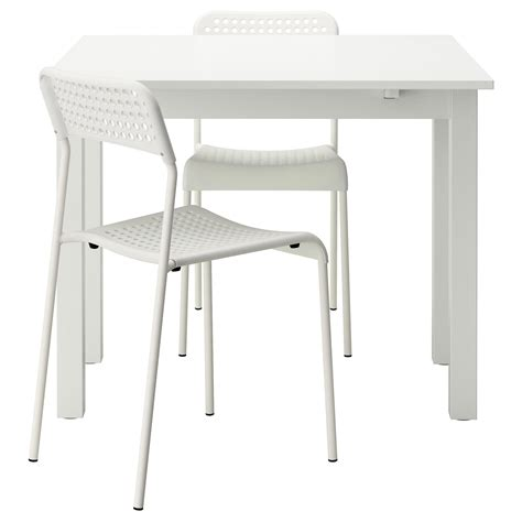 table cuisine ikea bjursta adde table and 2 chairs white 50 cm ikea