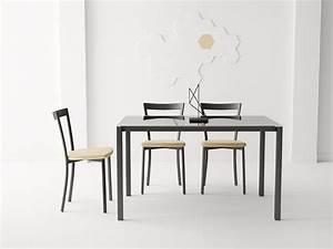 Table De Cuisine Rectangulaire : table de cuisine rectangulaire logic by cancio ~ Teatrodelosmanantiales.com Idées de Décoration