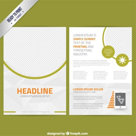 Leaflet Template by Abstract Leaflet Template Vector Free