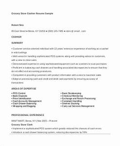6 cashier resume templates pdf doc free premium With resume sample for cashier at a supermarket