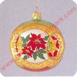 poinsettia bell ornament traditions 1998 holiday traditions 1st red poinsettias