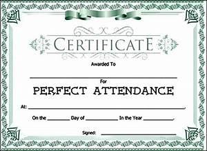 Perfect Attendance Certificate Template Attendance Award Certificate Template Sample Templates Yang Dipakai Pinterest Attendance