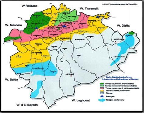 Carte Geographique Villes Algerie by Carte G 233 Ographique De La Wilaya De Tiaret Alg 233 Rie