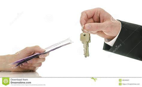 Exchanging Money For House Keys Stock Image  Image 30240021
