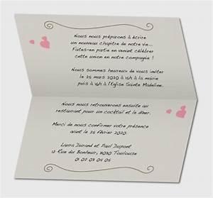 Idee Sympa Pour Bapteme : texte faire part mariage ava faire part mariage schubotz ~ Farleysfitness.com Idées de Décoration