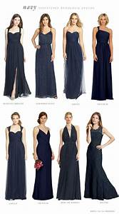Mismatched Bridesmaid Dresses in Navy Blue | Mismatched ...