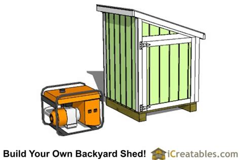 Small Generator Shed Plans by Generator Shed Plans Portable Generator Enclosure Designs