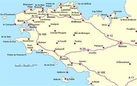 bretagne karte landkarte