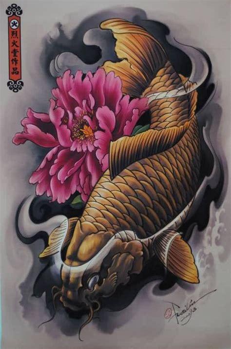 koi fish lotus flower tattoos buscar  google japan tattoo tradi pinterest tatuagens