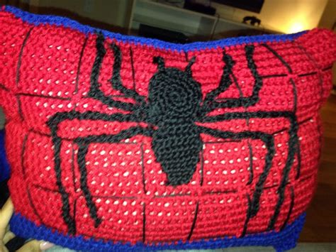 Crochet Spiderman Pillow For My Son