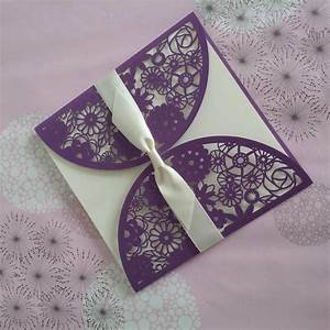 purple laser cut invitations wedding card design party With orchid laser cut wedding invitations