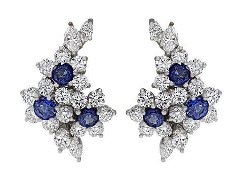 Tiffany & Co. Sapphire And Diamond Flower Earrings I #503795 Flower Jewelry Uk Jtv Kyanite Hawaii Inspired Cheap Fashion Jewellery Online Usa Silpada Yellow Returns