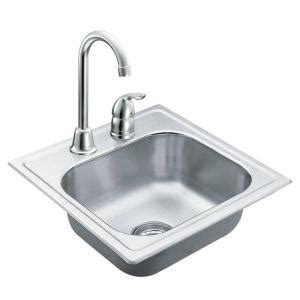 Home Depot Stainless Bar Sink by Moen 2000 Series Drop In Stainless Steel 15 In 2