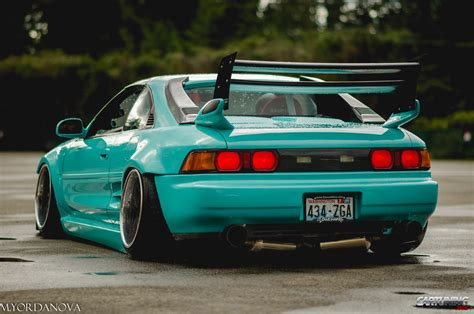 stanced toyota stanced toyota mr2 rear