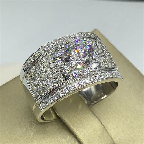 customize 1 carat diamond paved classic men s ring with