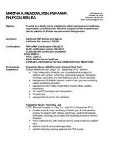 career objective practitioner resume fnp resume
