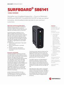 Motorola Surfboard Sb6141 Cable Modem Data Sheet