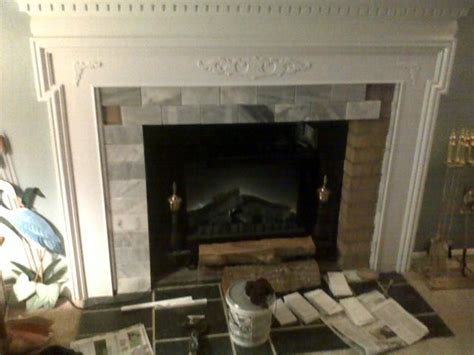 Lowes Fireplace Screens by Fireplace Mantle Cover Ugly Brick Traditional Living