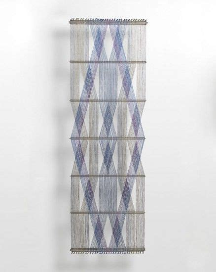 peter collingwood polychrome macrogauze wall hanging