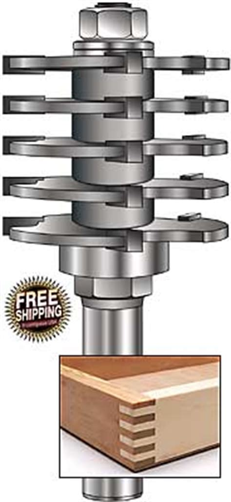 mlcs box joint  finger joint router bits