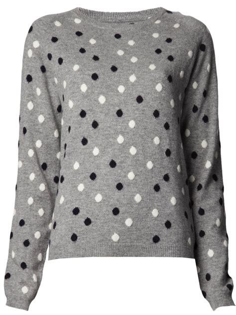 polka dot sweater chinti polka dot sweater in gray grey