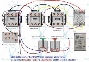 Star Delta Starter Wiring Diagram 3 Phase With Timer  With Images