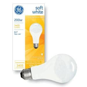 ge 200 watt incandescent a21 soft white light bulb 200a w