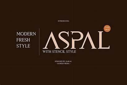 Font Typeface Serif Modern Fonts Aspal Stencil