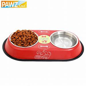 Free Shipping Stainless Steel Big Double Bowl Feeder Dog ...