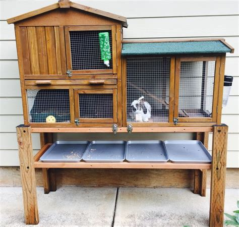 Creative Rabbit Hutches - outdoor rabbit hutch creative way to raise a purchased