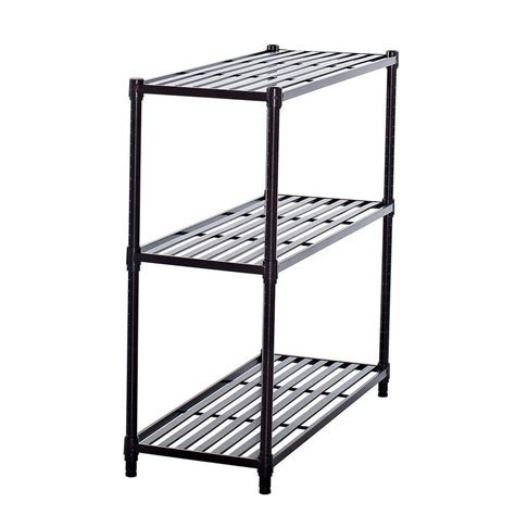 home depot decorative shelves 36 in x 35 in 3 tier bronze slat decorative