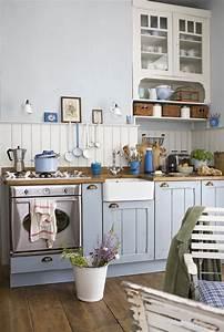 Miętowy kolor w kuchni - Kuchnia - Styl Rustykalny
