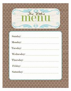 Free Printable Menu! - Smitten Blog Designs