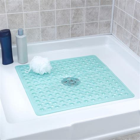 Mat Tub by Slipx Solutions 21 In X 21 In Square Shower Mat In Aqua