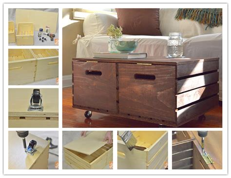 how to make a storage ottoman how to make diy wooden crate storage ottoman step by step