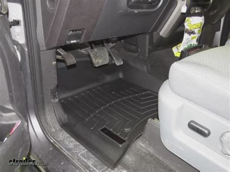 weathertech floor mats ford f150 2012 ford f 150 weathertech front auto floor mats black