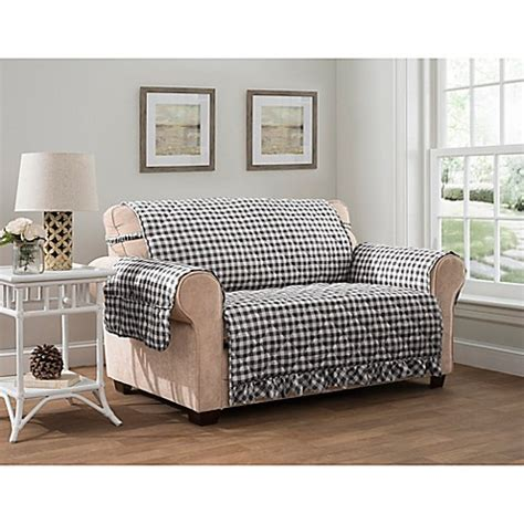 gingham xl sofa protector bed bath