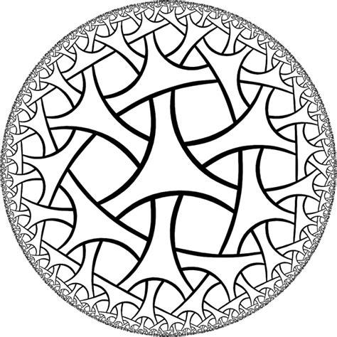 pentagon tiling hyperbolic plane conformal models of hyperbolic geometry 61 mathematics