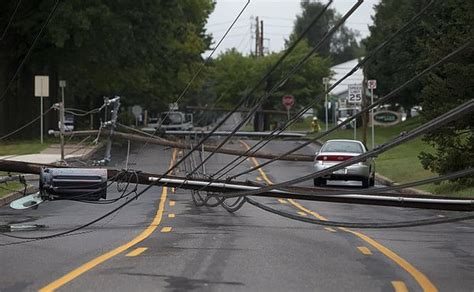 downed telephone poles  power outage   paxton
