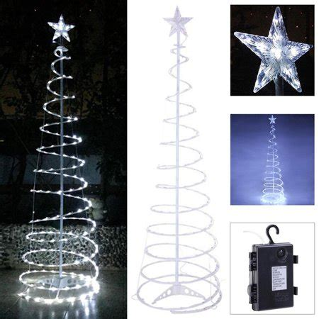 6ft white led tree koval inc 6ft clear cool white led lighted spiral tree walmart