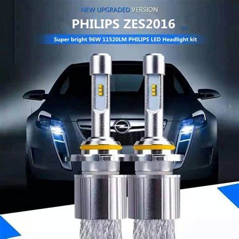 1set philips zes2016 led headlight 96w11520lm h1 h4 h7 h11