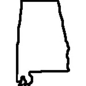 Alabama State Map Outline